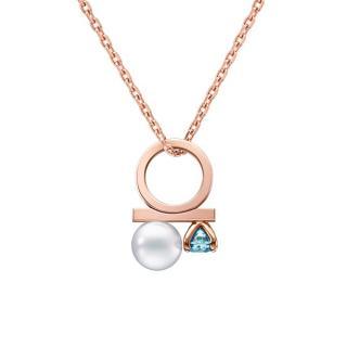 Tasaki 18K Rose Gold 'Petit Balance Class Charm' Aquamarine Pendant