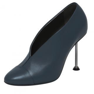 Victoria Beckham Navy Pin Heel Leather Pumps