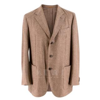 Eddy Monetti Brown Tweed Wool & Cashmere Jacket