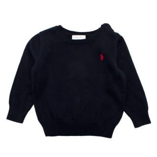 Ralph Lauren Navy Cotton Baby 18m Knit Jumper
