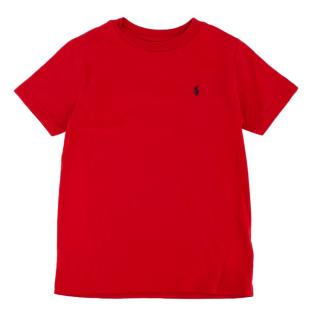 Polo Ralph Lauren Red Cotton Short Sleeve Logo T-Shirt