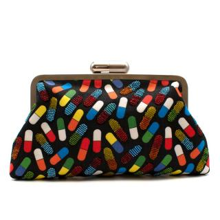 Sarahs Bag Pop Pill Bead-Embellished Clutch
