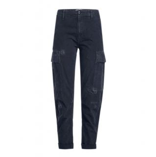 Re/Done Originals Navy Distressed Cargo Pants