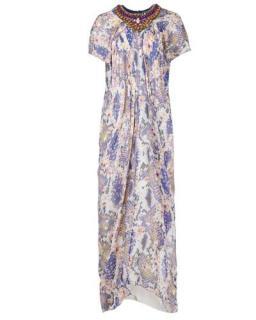 Matthew Williamson Jewelled Digital Print Maxi Dress