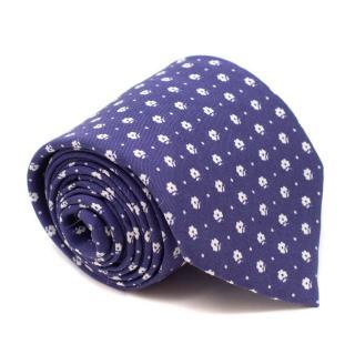 Petronius 1926 for Al Bazar Indigo Floral Print Tie