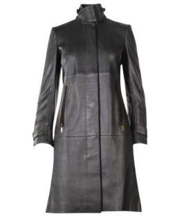 Loewe Vintage Black Leather Coat