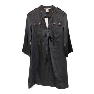 DVF Black Damani Safari Dress