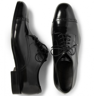 Jimmy Choo Black Patent Leather Prescott Oxford Brogues