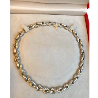 Cacharel Vintage Silver Tone Link Necklace