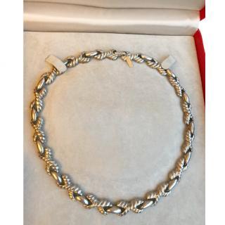 Cacharel Vintage Antique Silver Tone Link Collar