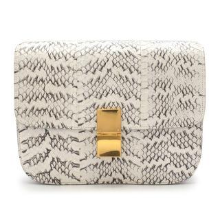 Celine White Whipsnake Box Bag