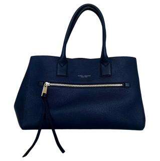 Marc by Marc Jacobs Blue Pebbled Leather Tote Bag