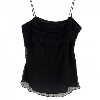 Christian Lacroix Vintage Black Silk Cami Top