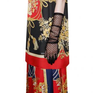 Gucci Black Long Tulle Gloves