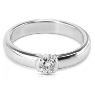 Tiffany & Co. Platinum Set 0.24ct Diamond Solitaire Ring