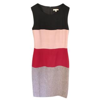 Paule Ka Colourblock Virgin Wool Sleeveless Dress