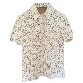 Michael Kors Collection Lace Work Blouse