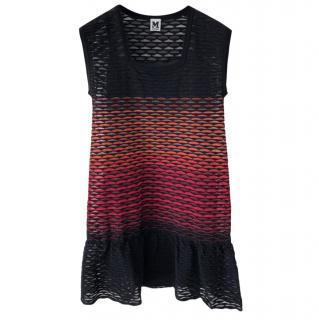 M Missoni Scallop Knit Frilled Dress