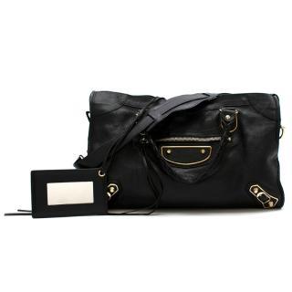 Balenciaga Black Leather Classic Edge City Bag