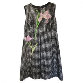 Dolce & Gabbana Tweed Sleeveless Shift Dress