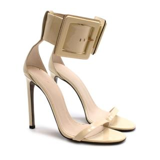Gucci Runway Yellow Patent Leather Heeled Sandals