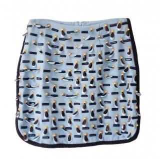 Mother of Pearl Sky Blue Embroidered Skirt