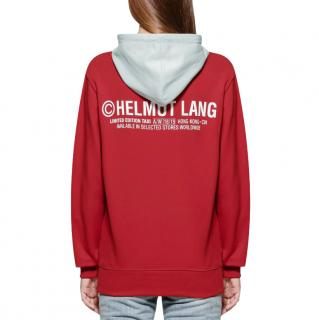 Helmut Lang Red Taxi Hoodie - Hong Kong Edition