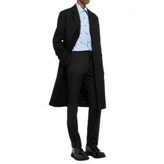 Prada Black Wool Tailored Coat