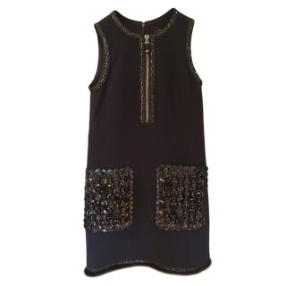 Andrew GN Crystal Embellished Sleeveless Dress