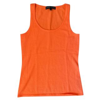 Ralph Lauren Black Label Orange Cashmere Vest