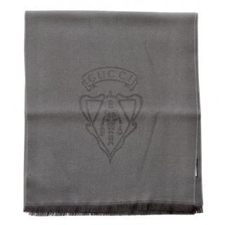 Gucci Chevron Wool Knit Crest Scarf
