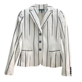 Lauren Ralph Lauren Ivory Striped Jacket