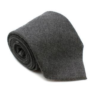 E. Marinella Grey Cashmere Tie