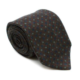 Marzullo Brown Dotted Wool Tie