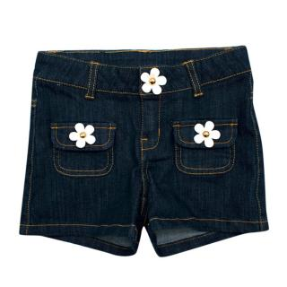 Little Marc Jacobs Denim Daisy Shorts