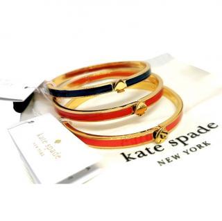 Kate Spade Enamel Spade Stacking Bracelets