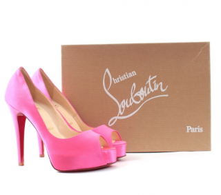 Christian Louboutin Pink Neon 120mm Pumps