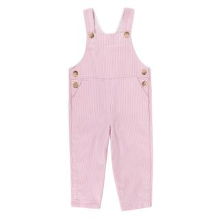 Bonpoint Pink & White Pinstripe Dungarees