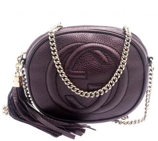 Gucci metallic Purple Mini Soho chain-strap cross-body bag