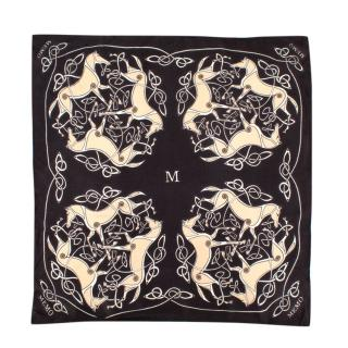 Memo Paris Brown Horse Pattern Handkerchief