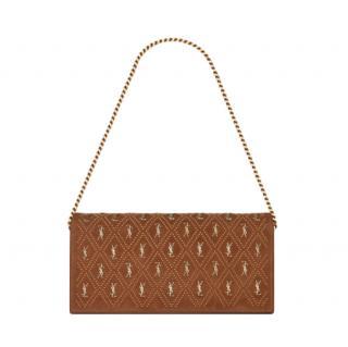 Saint Laurent Studded Suede Le Monogramme Kate 99 Shoulder Bag