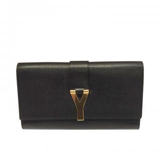 Saint Laurent Textured Leather Ligne Y Clutch