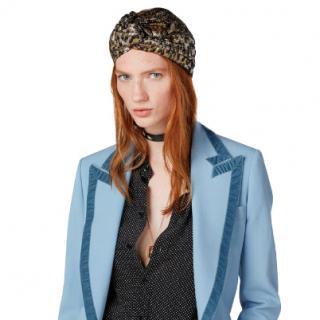 Gucci Metallic Jacquard Leopard Print Turban