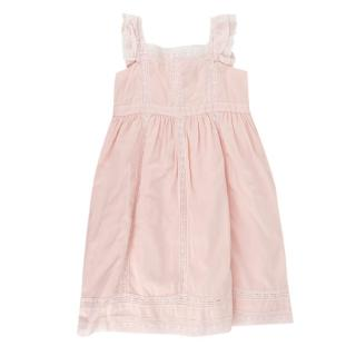 Bonpoint Pale Pink Embroidered Kids 4Y Dress