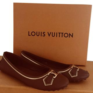 Louis Vuitton Brown Leather Oxford Flats