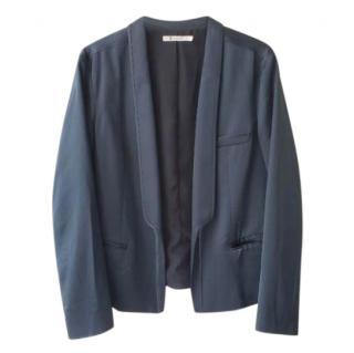 T by Alexander Wang Blue Tuxedo Blazer