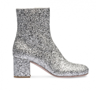 Miu Miu Silver Glitter Ankle Boots