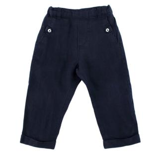 Tartine et Chocolat Navy Linen Trousers