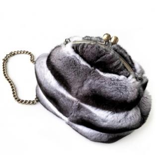 FurbySD Chinchilla Fur Crossbody Bag