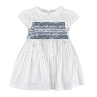 Chateau de Sable Cotton Embroidered Dress w/ Peter Pan Collar
